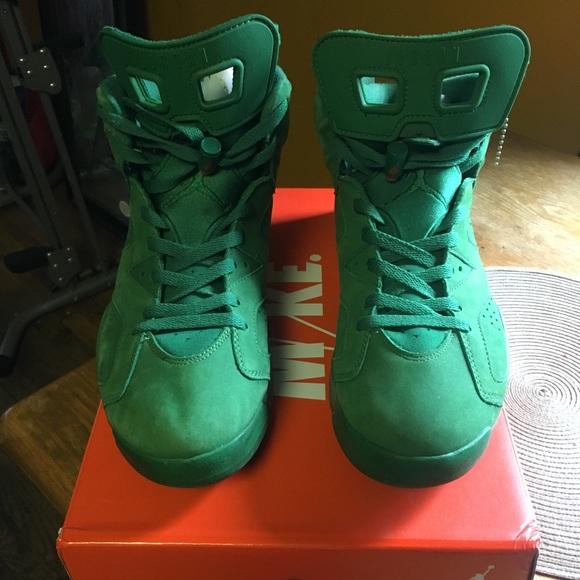 brand new cb2d1 7a5f3 Jordan 6 Gatorade Green Size 12 Used